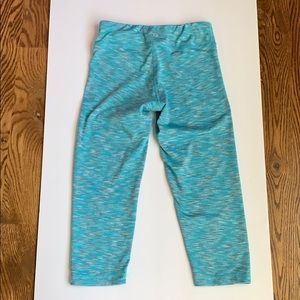 90 Degree By Reflex Girls Turquoise Capri Tights